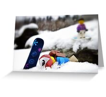 #snowboardfail Greeting Card