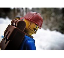 Back on the snowboard! Photographic Print