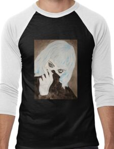 Alice Glass Watercolour Men's Baseball ¾ T-Shirt