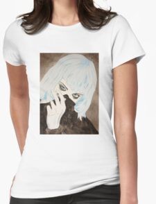 Alice Glass Watercolour Womens Fitted T-Shirt