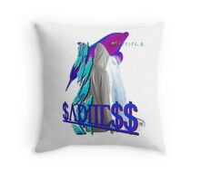 Purple Dolphin Vaporwave aesthetics Throw Pillow