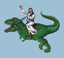 Jesus Riding a Dinosaur by jwezorek
