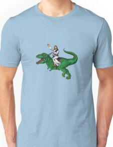 Jesus Riding a Dinosaur Unisex T-Shirt