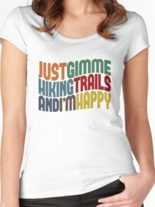 Gimme Hiking Trails Women's Fitted Scoop T-Shirt