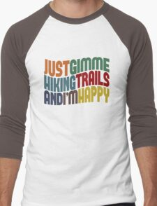 Gimme Hiking Trails Men's Baseball ¾ T-Shirt