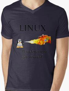 Windows Might Need Some Ice Mens V-Neck T-Shirt