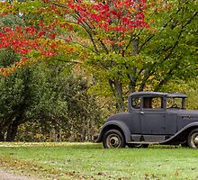 Classic car in New England by Robert Hollo