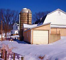 the white barn in winter by vigor