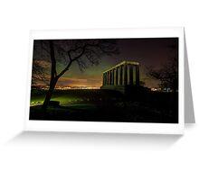 The Northern Lights (Aurora Borealis) from Calton Hill. Edinburgh Greeting Card
