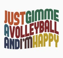 Gimme A Volleyball by Wordy Type