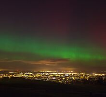 The Northern Lights overlooking Leith, Edinburgh by Miles Gray