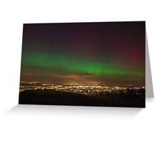 The Northern Lights overlooking Leith, Edinburgh Greeting Card
