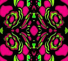 Psychedelic Retro Ornament by DFLC Prints