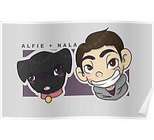Alfie and Nala Cartoon  Poster