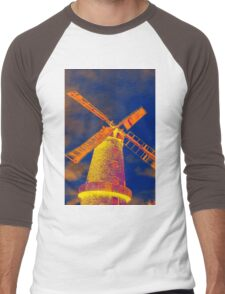 Psychedelic windmill Men's Baseball ¾ T-Shirt