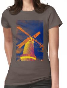 Psychedelic windmill Womens Fitted T-Shirt