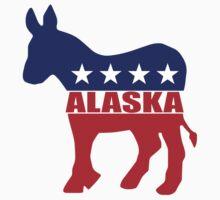 Alaska Democrat State Donkey  Kids Tee