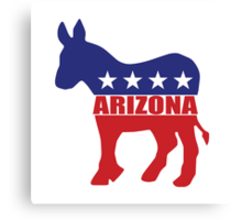 Arizona Democrat State Donkey  Canvas Print