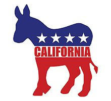 California Democrat State Donkey  by Democrat