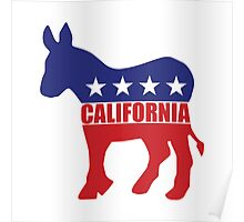 California Democrat State Donkey  Poster