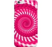 Abstract Pink Spiral iPhone Case/Skin