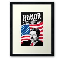 RON SWANSON Quote#5 Framed Print