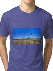 Yaquina Lighthouse II Tri-blend T-Shirt