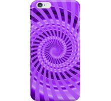 Abstract Purple Spiral iPhone Case/Skin