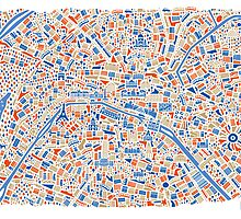 Paris City Map Poster by Vianina