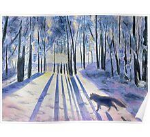 Snow Fox, watercolor Poster