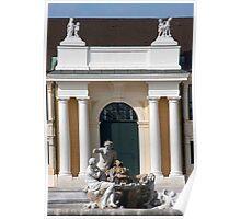 Schonbrunn Front Courtyard Fountain Poster