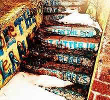 Stairs with messages. by silviasunflower
