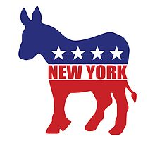 New York Democrat Donkey by Democrat