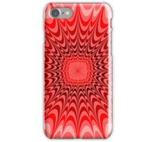 Abstract Red Sunburst Pattern iPhone Case/Skin