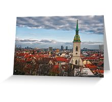 St Martin's Cathedral and Bratislava Greeting Card