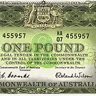 Note Of The Last Australian Pound by WoodenDuke