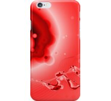Abstract Red Fluid iPhone Case/Skin