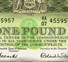 Note Of The Last Australian Pound Sticker