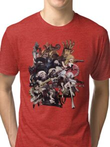 No More Heroes - Top 10 Ranked Assassins (concept art collage) Tri-blend T-Shirt