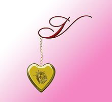 V Golden Heart Locket by Chere Lei