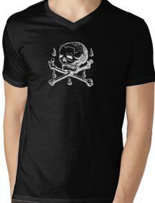 Skull & Crossbones (white on dark) T-Shirt