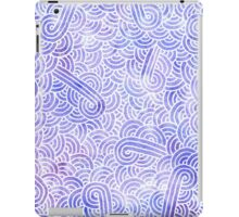Lavender and white swirls doodles iPad Case/Skin