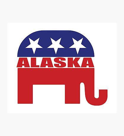 Alaska Republican Elephant Photographic Print