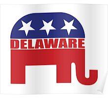 Delaware Republican Elephant Poster