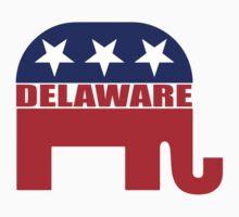 Delaware Republican Elephant One Piece - Long Sleeve