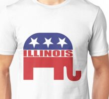 Illinois Republican Elephant Unisex T-Shirt