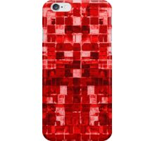 Abstract Red Sqares iPhone Case/Skin