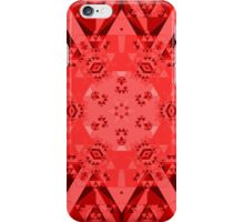 Abstract Red Kaleidoscope iPhone Case/Skin