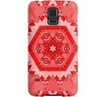 Abstract Red Kaleidoscope Samsung Galaxy Case/Skin