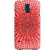 Abstract Red Radial Pattern Samsung Galaxy Case/Skin